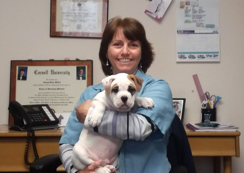 Dr. McFee with puppy Jax